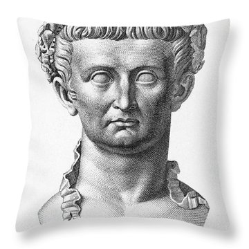 Tiberius (42 B.c.- 37 A.d.) Throw Pillow by Granger