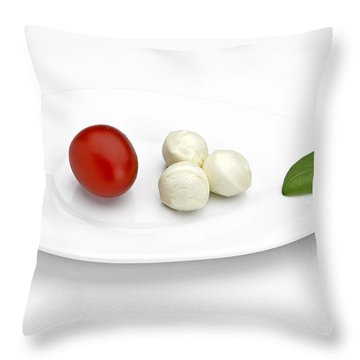 Tomato Mozzarella Throw Pillow by Joana Kruse