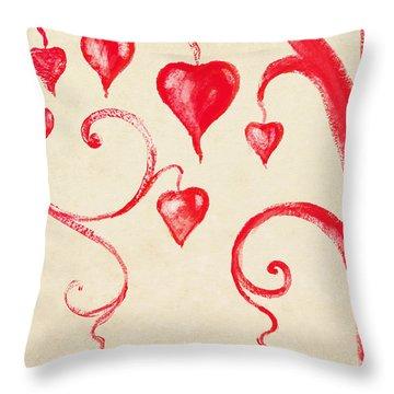 Tree Of Heart Painting On Paper Throw Pillow by Setsiri Silapasuwanchai
