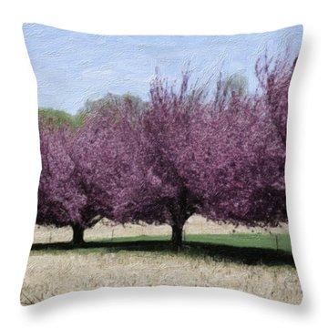 Trees On Warwick Throw Pillow by Trish Tritz