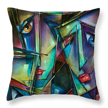 Trio Throw Pillow by Michael Lang