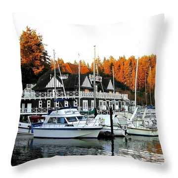 Vancouver Rowing Club Throw Pillow by Will Borden