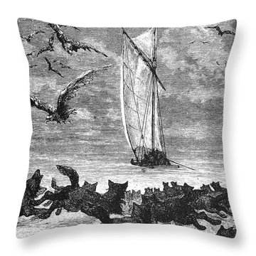 Verne: Around The World Throw Pillow by Granger