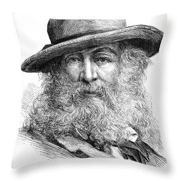 Walt Whitman (1819-1892) Throw Pillow by Granger