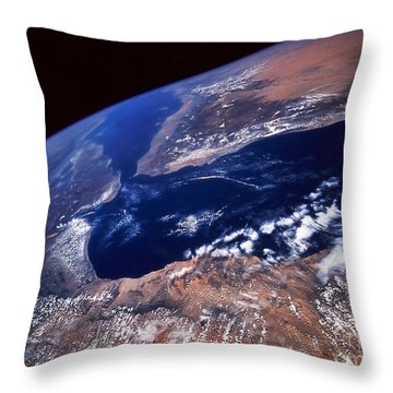 Water And Land Throw Pillow by Stocktrek Images