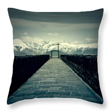 Way To Heaven Throw Pillow by Joana Kruse
