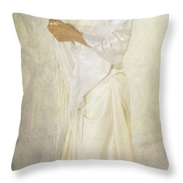 Wedding Dress Throw Pillow by Joana Kruse
