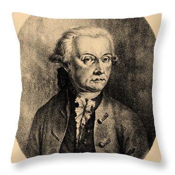 Wolfgang Amadeus Mozart, Austrian Throw Pillow by Photo Researchers, Inc.