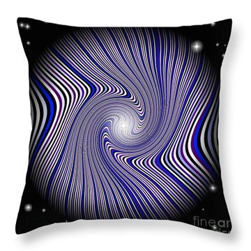Wormhole Trip Throw Pillow by Pet Serrano