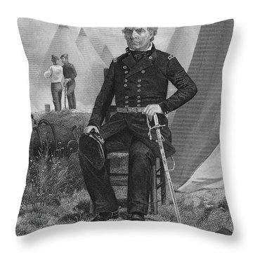 Zachary Taylor (1784-1850) Throw Pillow by Granger