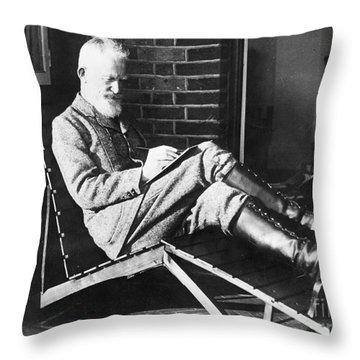 George Bernard Shaw Throw Pillow by Granger