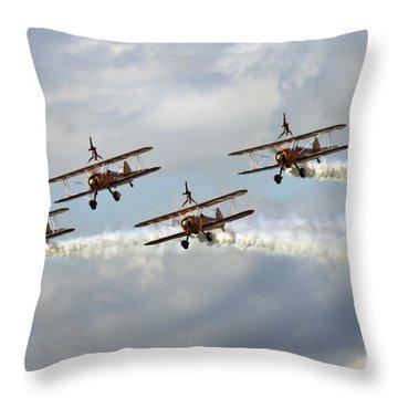 Wingwalkers Throw Pillow by Angel  Tarantella
