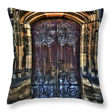 14th Century Door Throw Pillow by Yhun Suarez