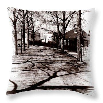 1900 Street Throw Pillow by Marcin and Dawid Witukiewicz