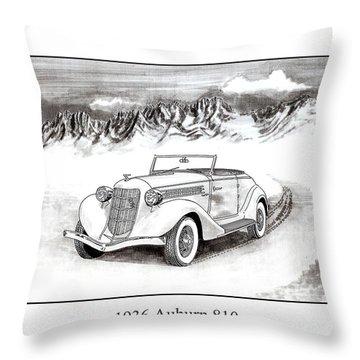 1936 Auburn 810 Throw Pillow by Jack Pumphrey