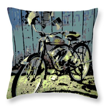 1947 Whizzer Throw Pillow by George Pedro
