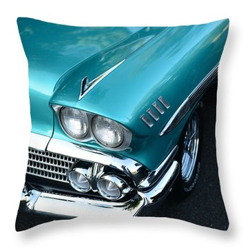 1958 Chevy Belair Front End 01 Throw Pillow by Paul Ward