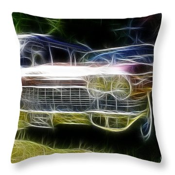 1962 Caddy Cadillac Throw Pillow by Paul Ward