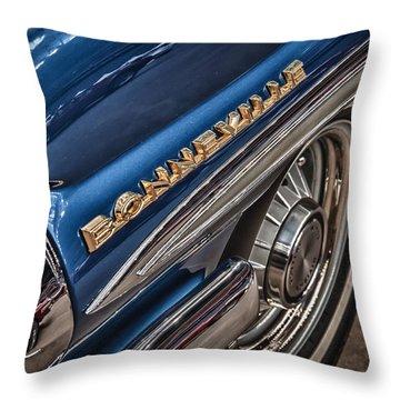 1962 Pontiac Throw Pillow by James Woody