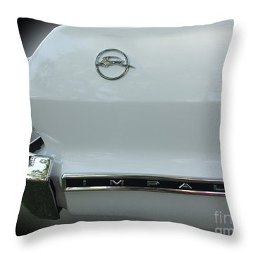 1963 Chevy Impala Throw Pillow by Peter Piatt