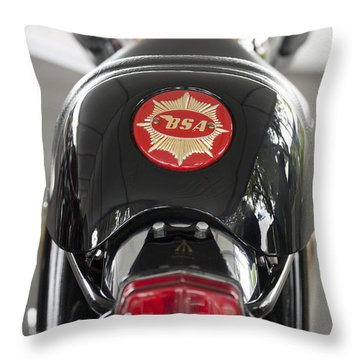 1966 Bsa 650 A-65 Spitfire Lightning Clubman Motorcycle Throw Pillow by Jill Reger