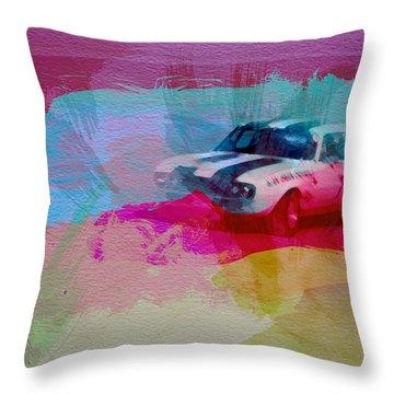 1968 Chevy Camaro Throw Pillow by Naxart Studio