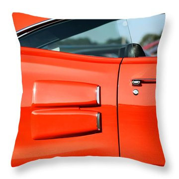 1969 Dodge Coronet Super Bee Throw Pillow by Gordon Dean II