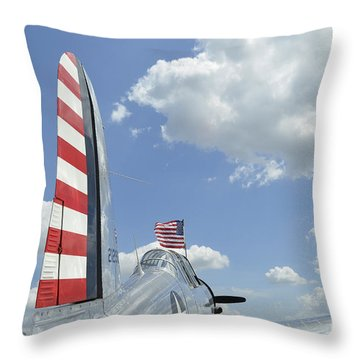 A Bt-13 Valiant Trainer Aircraft Throw Pillow by Stocktrek Images