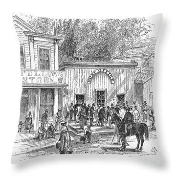 Arkansas: Hot Springs, 1878 Throw Pillow by Granger