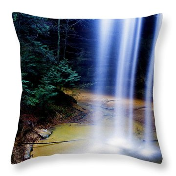 Ash Cave Waterfall Throw Pillow by Thomas R Fletcher