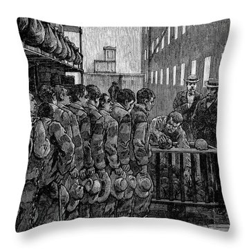 Blackwells Island, 1876 Throw Pillow by Granger