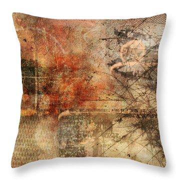 Entropy Throw Pillow by Christopher Gaston