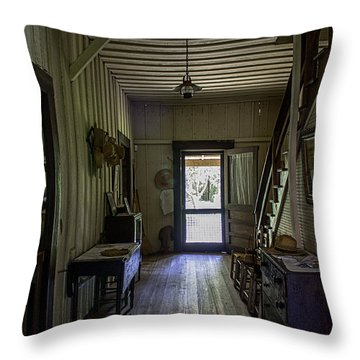 Farmhouse Entry Hall And Stairs Throw Pillow by Lynn Palmer