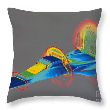 Hyperx Hypersonic Aircraft Throw Pillow by Science Source