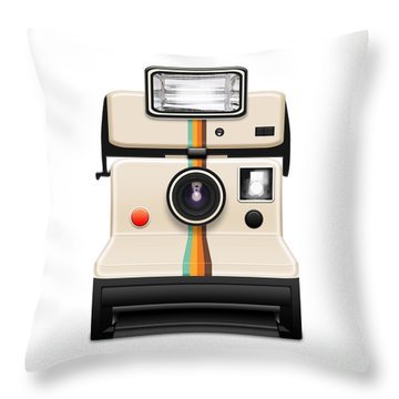 Instant Camera With A Blank Photo Throw Pillow by Setsiri Silapasuwanchai