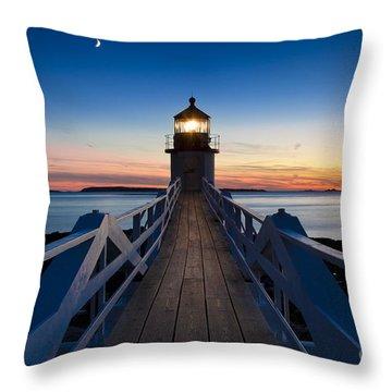 Marshall Point Light Throw Pillow by Brian Jannsen