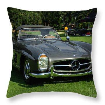 Mercedes 300 Sl Throw Pillow by Peter Piatt