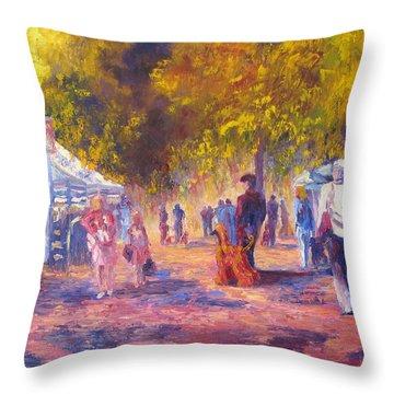 Promenade Throw Pillow by Terry  Chacon