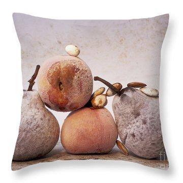 Rotten Pears And Apple. Throw Pillow by Bernard Jaubert