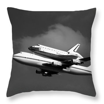 Shuttle Endeavour Throw Pillow by Jason Smith