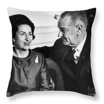 Lyndon Baines Johnson Throw Pillow by Granger