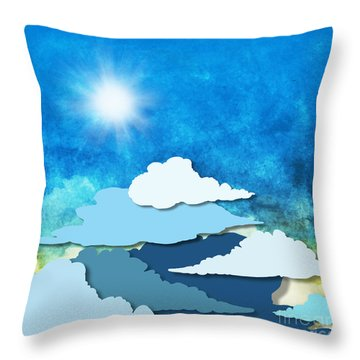 Cloud And Sky Throw Pillow by Setsiri Silapasuwanchai