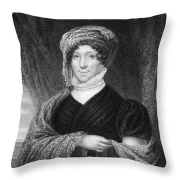 Dolley Madison (1768-1849) Throw Pillow by Granger