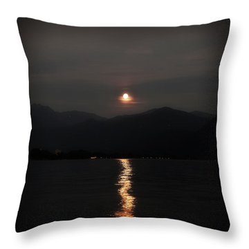 Full Moon Throw Pillow by Joana Kruse