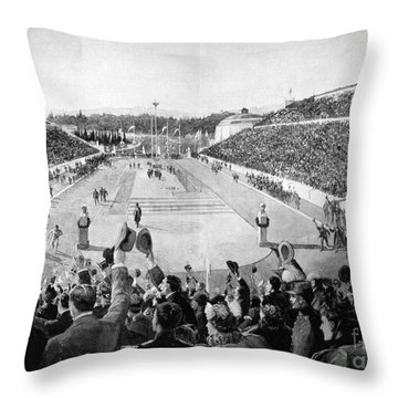 Olympic Games, 1896 Throw Pillow by Granger