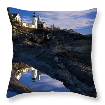 Pemaquid Point Lighthouse Throw Pillow by Brian Jannsen