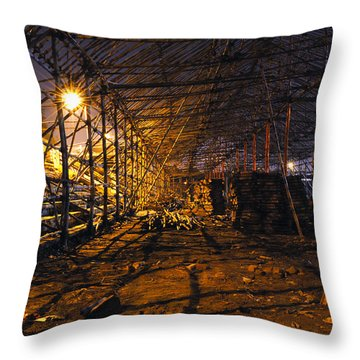 Preparation Of A Carnival Throw Pillow by Sumit Mehndiratta