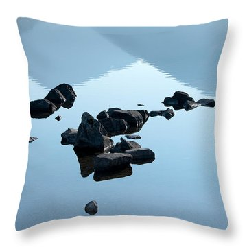 Rocks Throw Pillow by Svetlana Sewell
