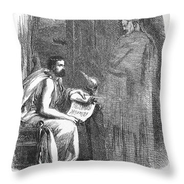 Shakespeare: Julius Caesar Throw Pillow by Granger