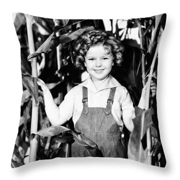 Shirley Temple (1928- ) Throw Pillow by Granger